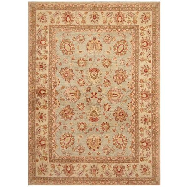 Handmade Oushak Wool Rug (Afghanistan) - 5'7 x 7'8