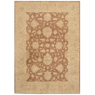 Handmade Oushak Wool Rug (Afghanistan) - 6'8 x 4'9