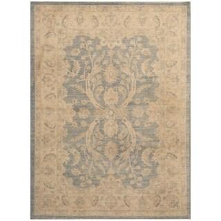 Handmade Oushak Wool Rug (Afghanistan) - 4'10 x 6'8