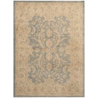 Handmade Herat Oriental Afghan Hand-knotted Oushak Wool Rug (4'10 x 6'8) - 4'10 x 6'8