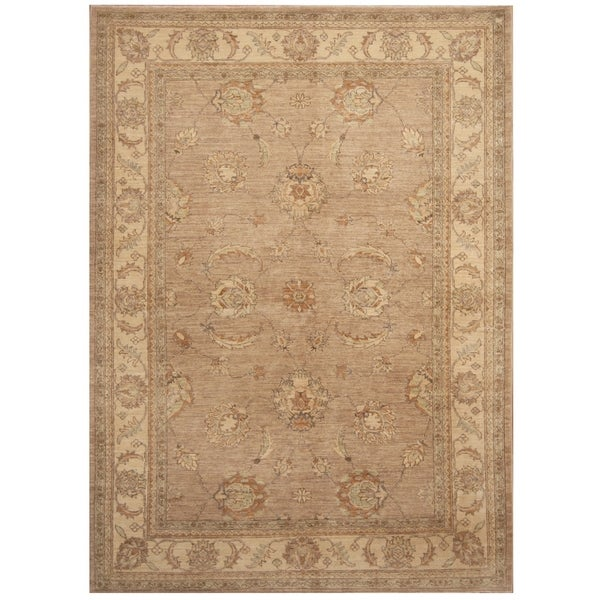 Handmade Oushak Wool Rug (Afghanistan) - 5'8 x 8'