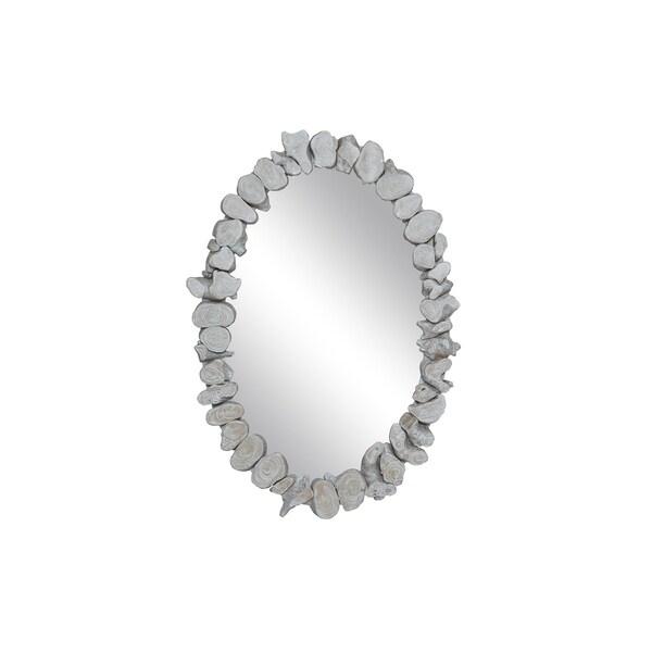 East At Main's Sybil Teak Oval Mirror