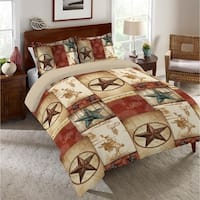 Rodeo Patch Queen Comforter - red; beige