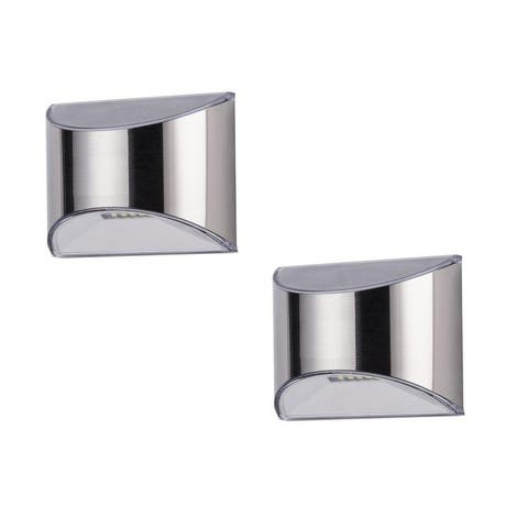 Classy Caps Stainless Steel Deck & Wall Light (2 pk)