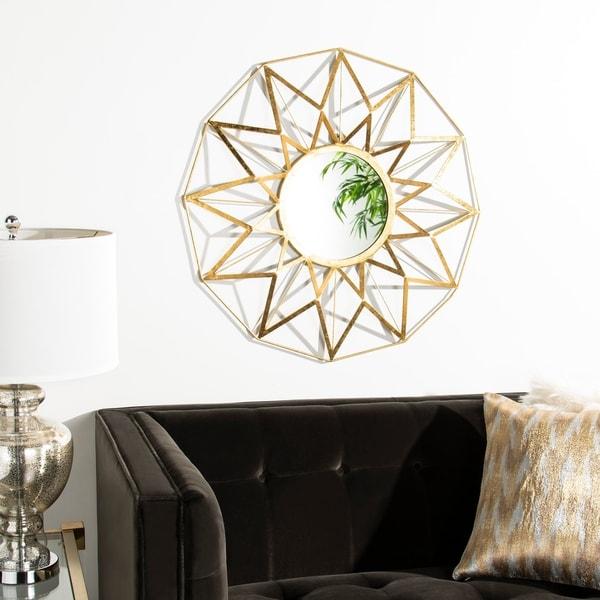 "Safavieh Kilburn Gold 31-inch Decorative Mirror - 30.5"" x 2.5"" x 30.5"""