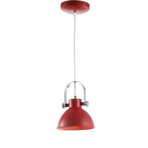 "Safavieh Lighting Rove Adjustable 1-light LED Red Pendant - 6.25""x6.25""x10-82"""