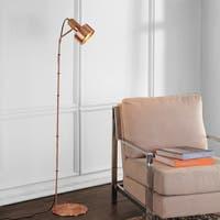 "Safavieh Lighting 59"" inch Leston Floor Lamp -Grey - 12.5"" x 11"" x 59"""