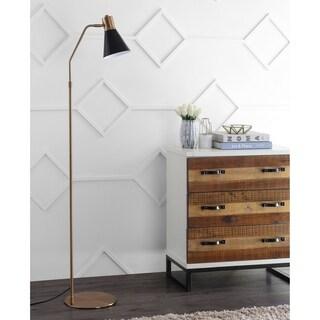 "Safavieh Lighting 60"" inch Grania Floor Lamp -Gold / Black - 15"" x 9.875"" x 60"""