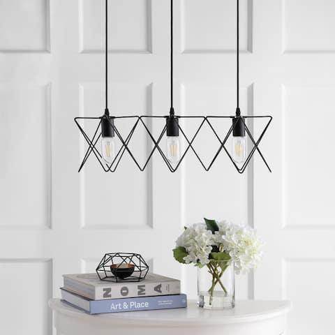 Safavieh Lighting Pernille Adjustable 3-light LED Black Pendant