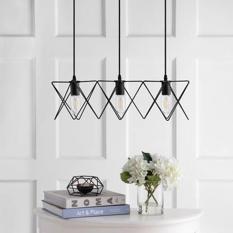 "Safavieh Lighting Pernille Adjustable 3-light LED Black Pendant - 24""x8.5""x10.3-82.3"""
