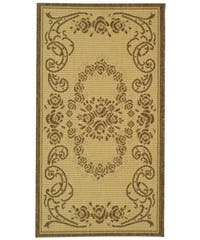 Safavieh Garden Elegance Natural/ Brown Indoor/ Outdoor Rug - 2' x 3'7