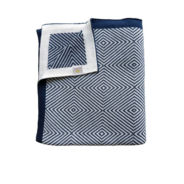Piazza Collection - Squares - Navy/Ivory