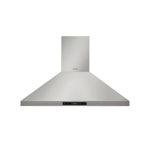 """Thor Kitchen - 36"""" Wall Mount Chimney Range Hood in Stainless Steel"""