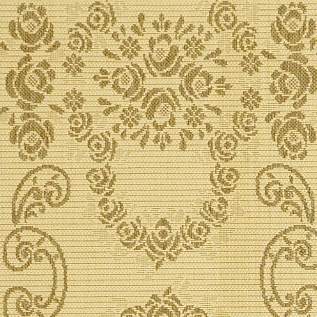 Safavieh Garden Elegance Natural/ Brown Indoor/ Outdoor Runner (2'4 x 6'7) - Thumbnail 1