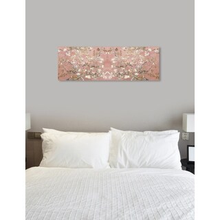 Oliver Gal 'Van Gogh in Blush Blossoms' Pink Landscape and Nature Wall Art Gallery Wrapped Canvas Print
