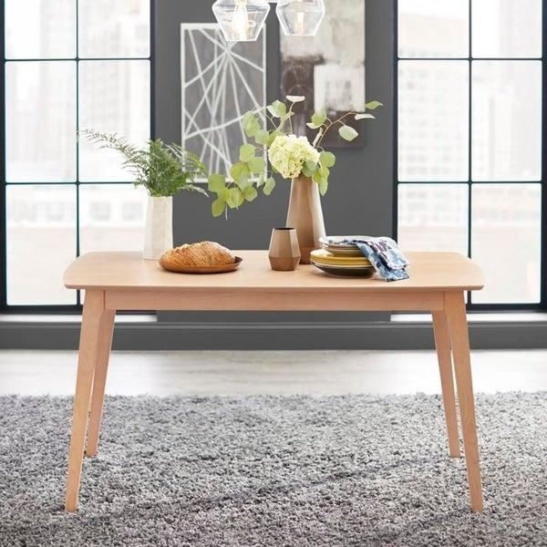 Simple Living Solid Beechwood Cadiz Dining Table Overstock 26031660