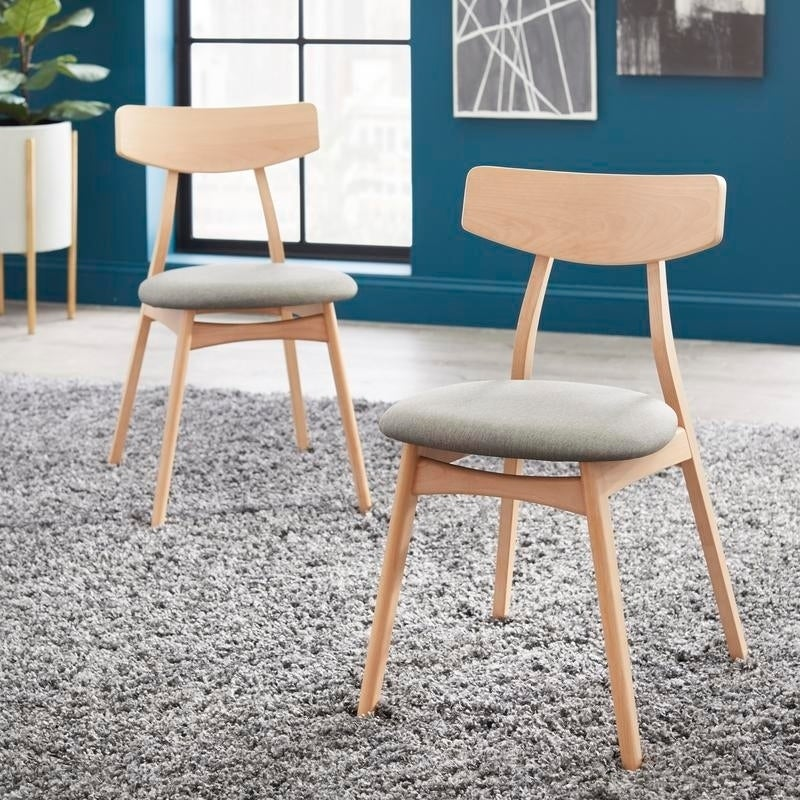 Enjoyable Simple Living Solid Beechwood Cadiz Dining Chairs Set Of 2 Pabps2019 Chair Design Images Pabps2019Com