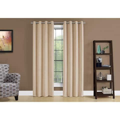"Curtain Panel - 2Pcs / 54""W X 95""H Beige Room Darkening"