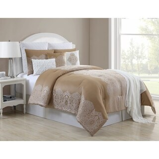 VCNY Home Anika Gold Damask Comforter Set