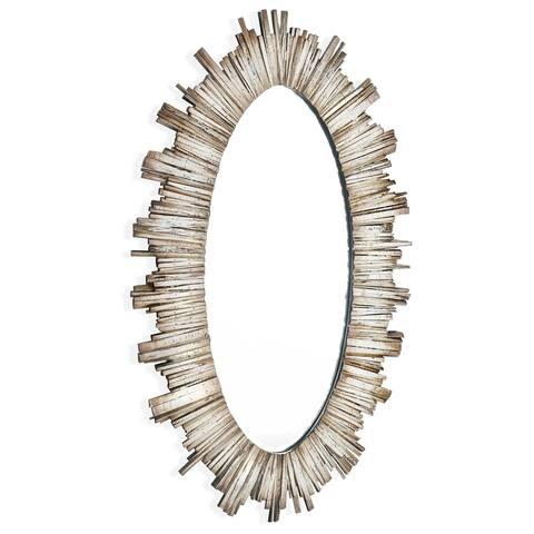 Diya (Oval) Wood Framed Mirror