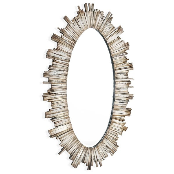 Diya (Oval) Wood Framed Mirror
