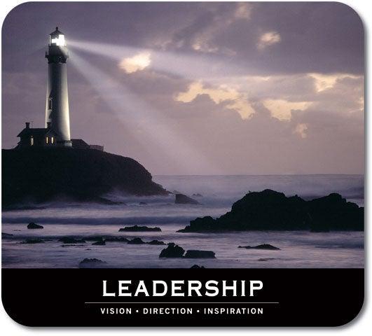 Motivational Leadership Fabric and Rubber Nonslip Graphic Mouse Pad - Thumbnail 0