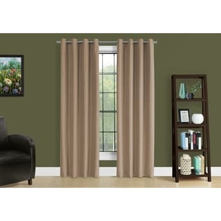 Brown Solid Blackout Curtain Panel (Set of 2)