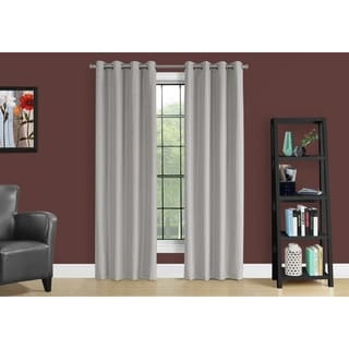 Silver Solid Blackout Curtain Panel (Set of 2)