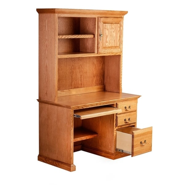 Shop 48w Traditional Desk Amp Hutch With Keyboard Pullout