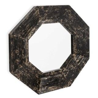 Aurelius Wood Framed Mirror - Black/Gold - A/N