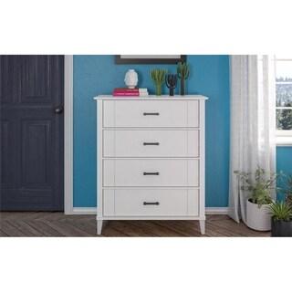 Novogratz Hazelridge White 4-Drawer Dresser