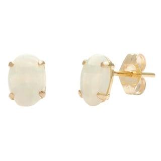 Link to Kabella 14k Yellow Gold Opal Oval Stud Earrings Similar Items in Earrings