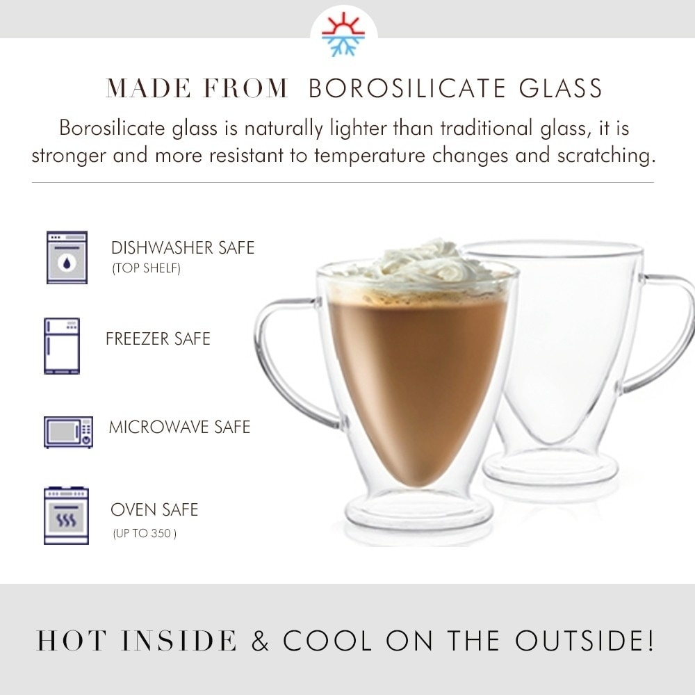 a00a894ef0dd Shop JoyJolt Declan Irish Double Wall Insulated Glasses, 10 Oz Set of Two Coffee  Mugs - Free Shipping On Orders Over $45 - Overstock - 26032641