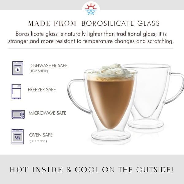 9ce35af5b8bb ... JoyJolt Declan Irish Double Wall Insulated Glasses, 10 Oz Set of Two Coffee  Mugs ...