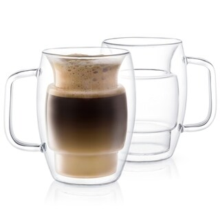 Link to JoyJolt Cadus Double Wall Insulated Mugs, 16 OZ Set Of Two Latte Glasses Similar Items in Glasses & Barware
