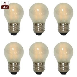 Royal Designs Decorative Vintage Frosted Indoor or Outdoor Edison Medium Base Dimmable LED Bulbs, 6 Pack