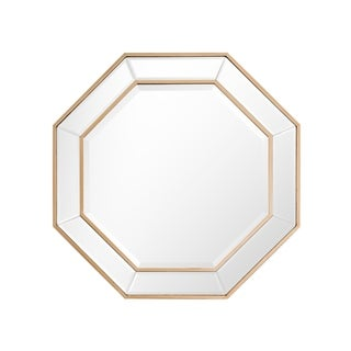 Octagonal Beveled and Gold Frame Wall Mirror - Antique Gold
