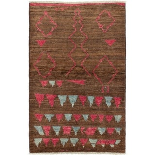 ECARPETGALLERY  Hand-knotted Shalimar Brown Wool Rug - 6'7 x 4'2