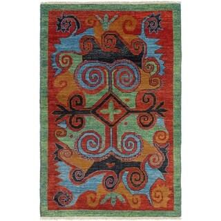 ECARPETGALLERY Hand-knotted Shalimar Dark Copper Wool Rug - 5'3 x 8'3