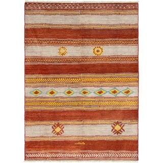 ECARPETGALLERY  Hand-knotted Shalimar Dark Copper Wool Rug - 6'4 x 8'10