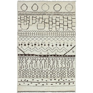 ECARPETGALLERY  Hand-knotted Tangier Cream Wool Rug - 5'2 x 8'0