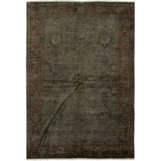 ECARPETGALLERY  Hand-knotted Color transition Dark Brown Wool Rug - 5'9 x 8'10