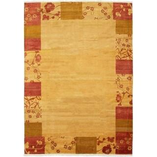 ECARPETGALLERY  Hand-knotted Finest Ziegler Chobi Beige Wool Rug - 7'3 x 10'6