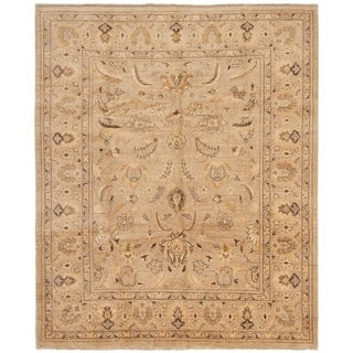 ECARPETGALLERY  Hand-knotted Chobi Finest Tan Wool Rug - 8'2 x 9'9