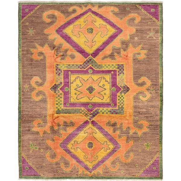 ECARPETGALLERY Hand-knotted Shalimar Brown, Copper Wool Rug - 8'5 x 10'4