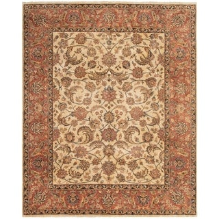 ECARPETGALLERY  Hand-knotted Chobi Twisted Cream Wool Rug - 8'1 x 9'10