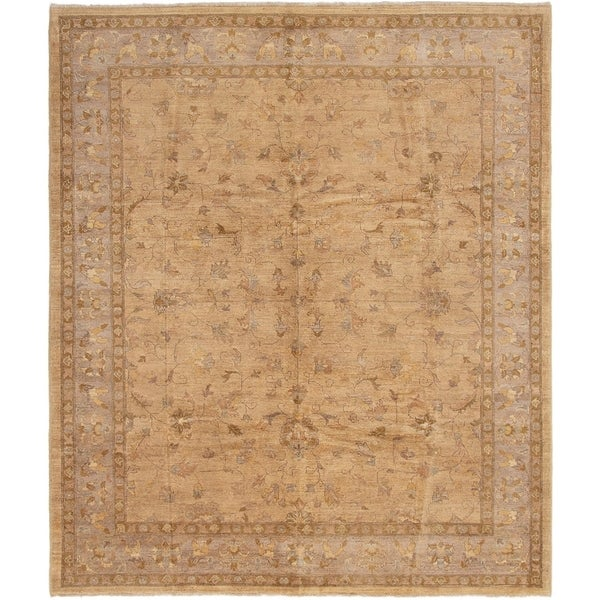 ECARPETGALLERY Hand-knotted Chobi Finest Tan Wool Rug - 8'0 x 9'8