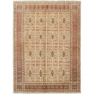 ECARPETGALLERY  Hand-knotted Finest Ziegler Chobi Beige Wool Rug - 6'0 x 8'2