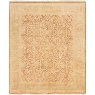 ECARPETGALLERY  Hand-knotted Chobi Twisted Brown Wool Rug - 8'0 x 9'9