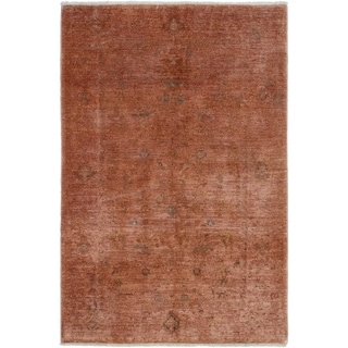 ECARPETGALLERY  Hand-knotted Color transition Copper Wool Rug - 5'2 x 7'9